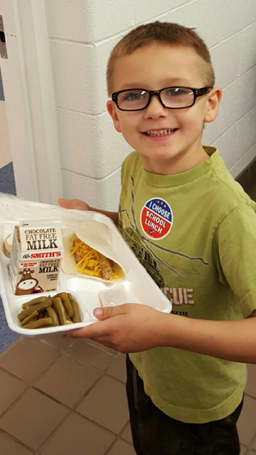 He Chose School Lunch Today!