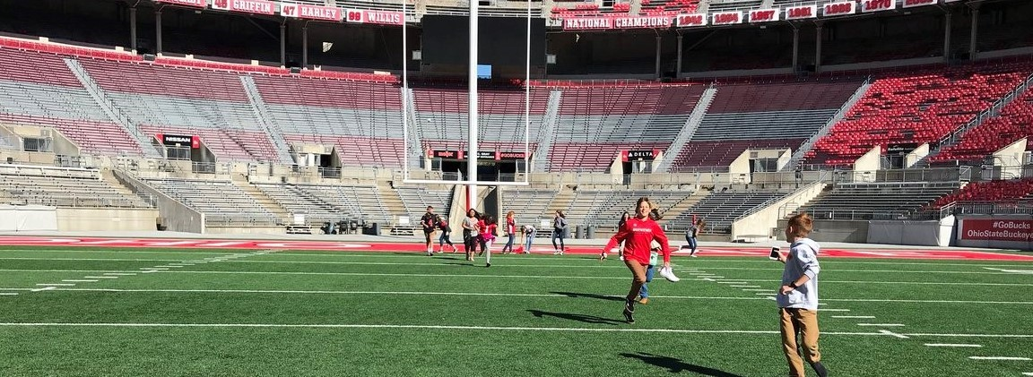 Photo of JH students on the OSU football field