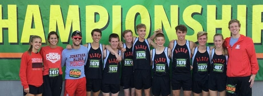 Picture of HS Cross Country Runners at the State Championship
