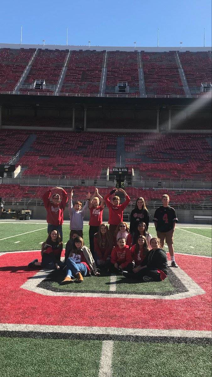 Junior High Students on a tour at the OSU Shoe