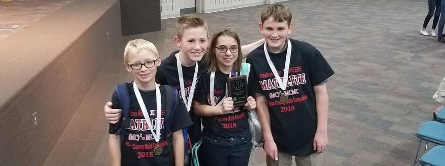 Photo of Madison County Math Contest participants from CMS