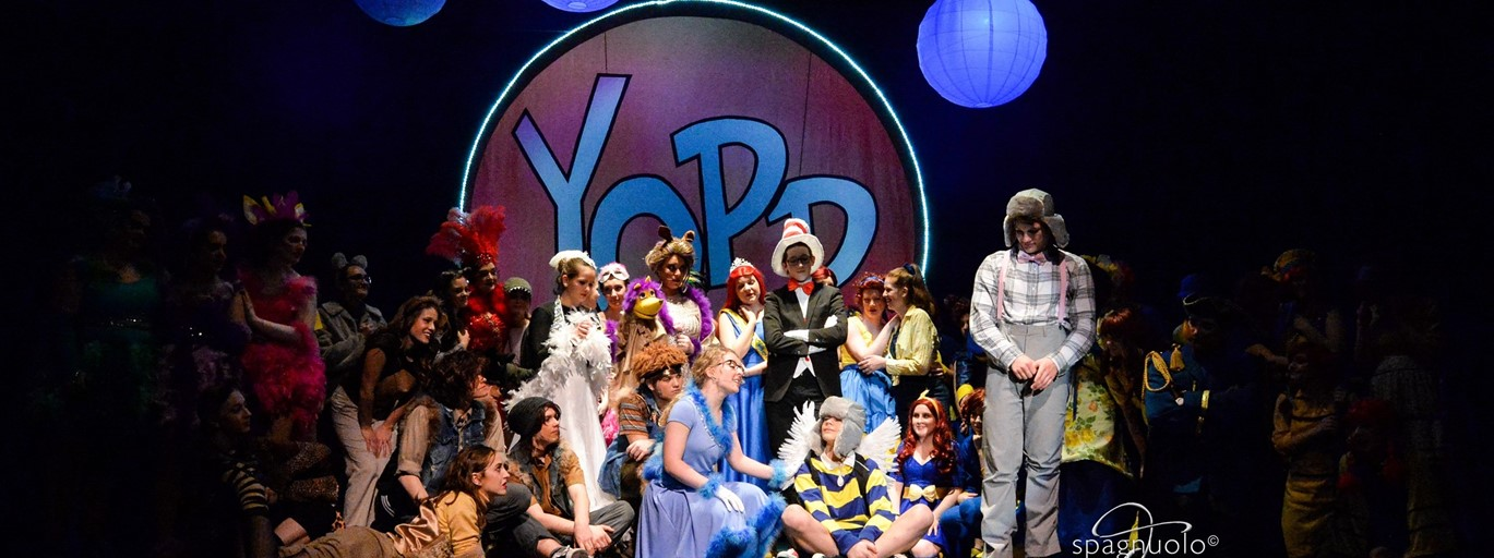 Photo of JAHS Musical group singing in Seussical