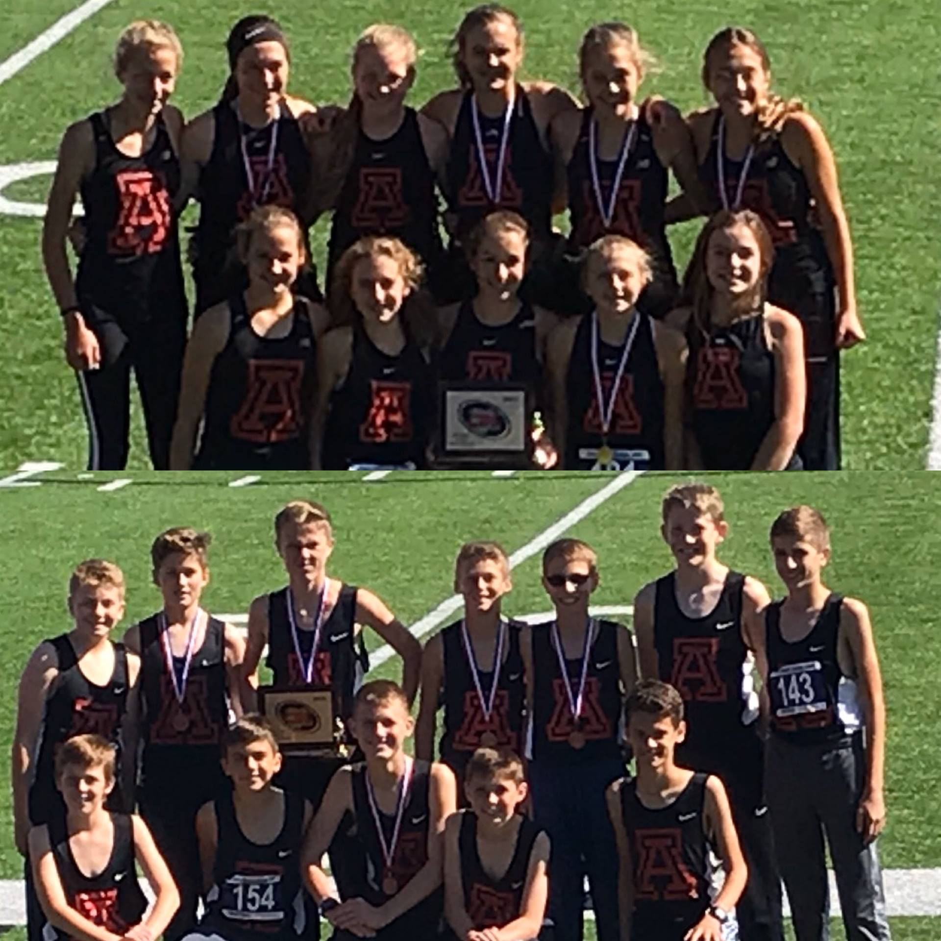 Girls and Boys 2019 CBC Cross Country Champions
