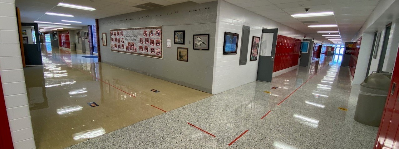 Picture of JA Junior High hallway interchange