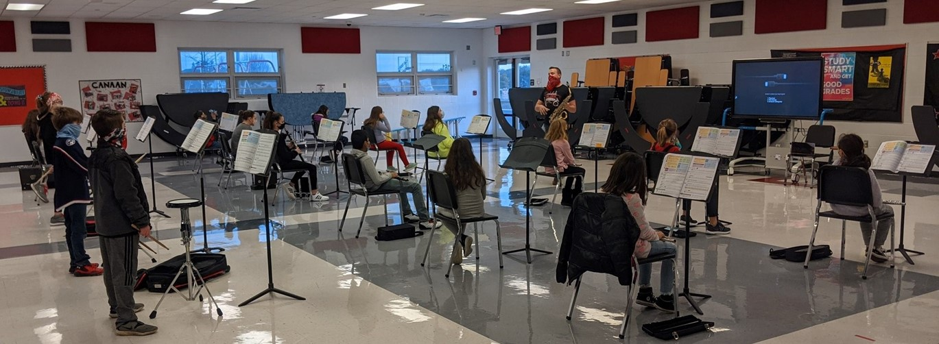 Band students at Canaan Middle School