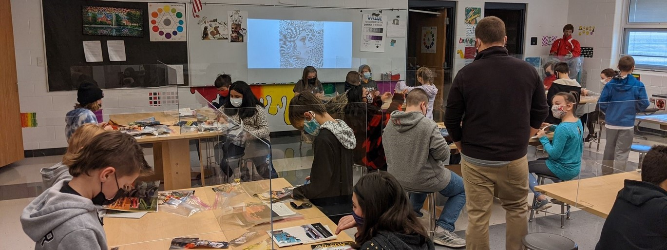 Art class at Middle School